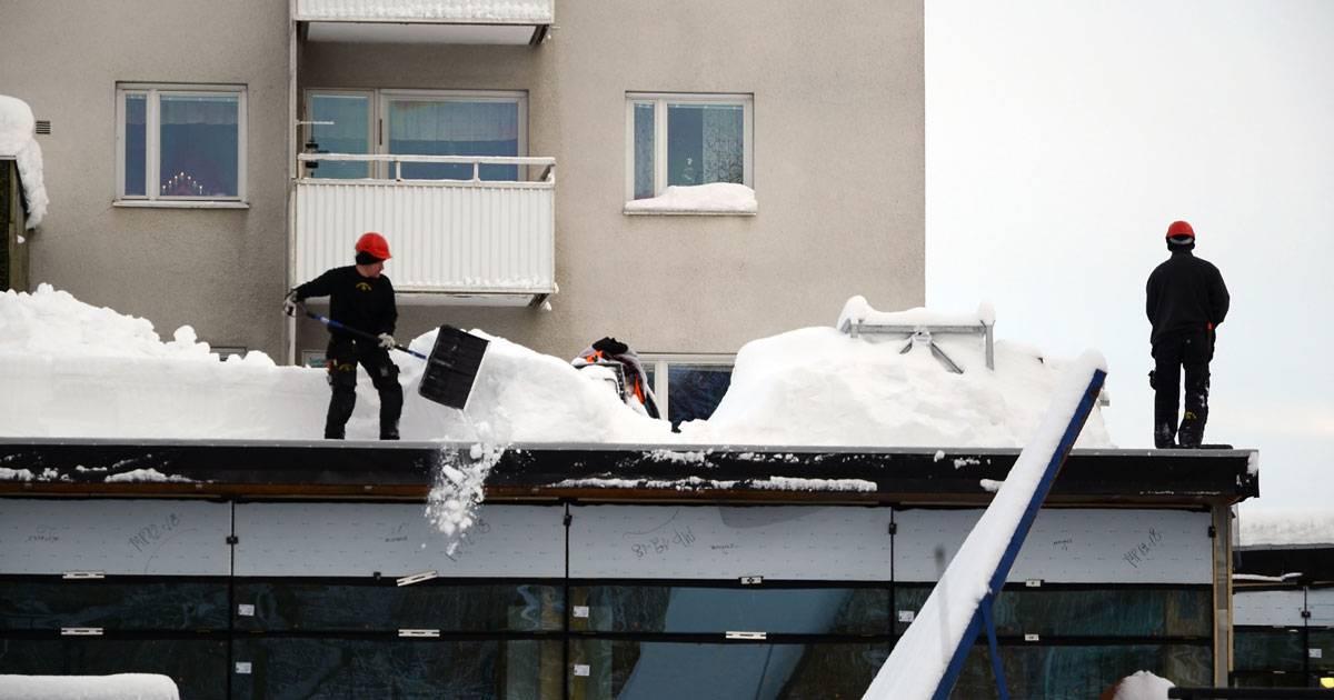 Säkra snöröjning på tak